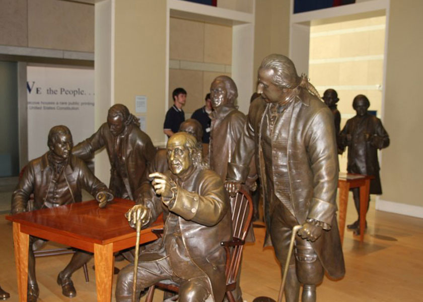 An exhibit at National Constitution Center