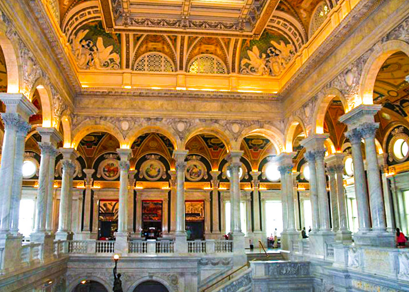 Inside view of the Library of Congress